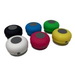 Bluetooth Lautsprecher mit Saugnapf - wasserdicht