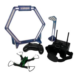 Racing Drohne mit Kamera, FPV Brille und Parcours-Set